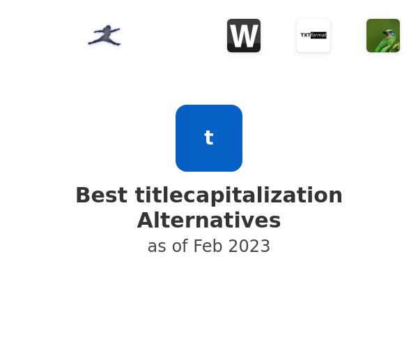 Best titlecapitalization Alternatives