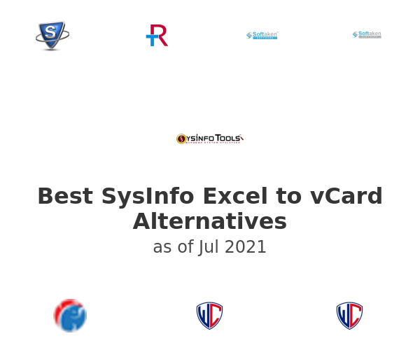 Best SysInfo Excel to vCard Alternatives