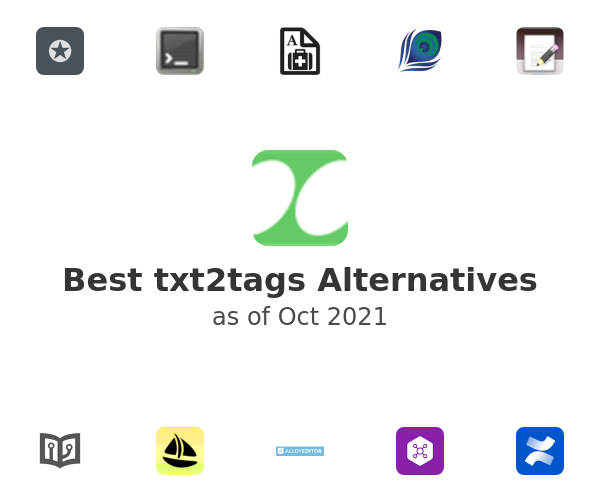 Best txt2tags Alternatives