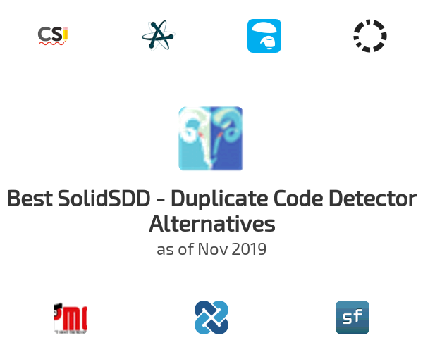 Best SolidSDD - Duplicate Code Detector Alternatives