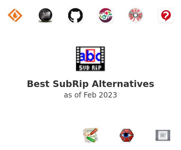 Best SubRip Alternatives