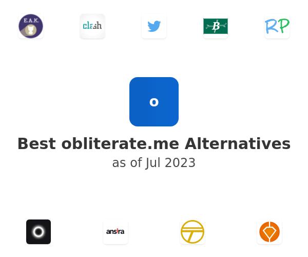 Best obliterate.me Alternatives
