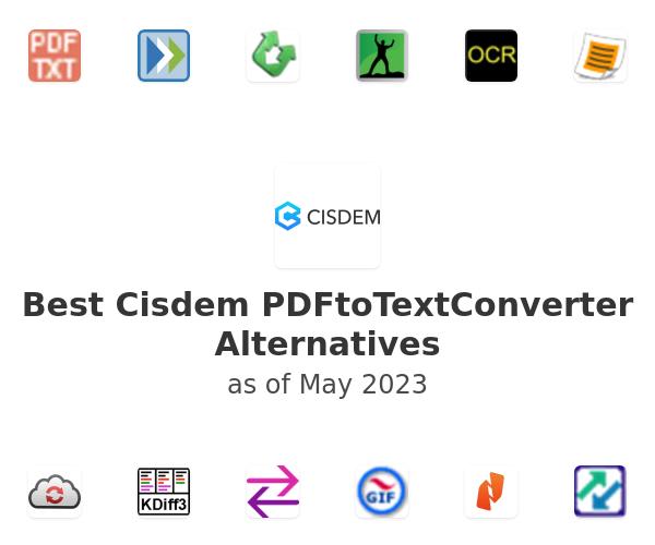 Best Cisdem PDFtoTextConverter Alternatives