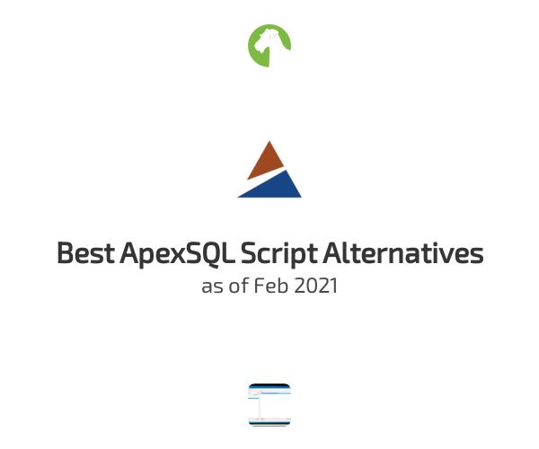 Best ApexSQL Script Alternatives