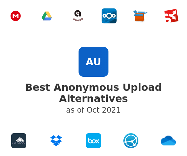 Best Anonymous Upload Alternatives