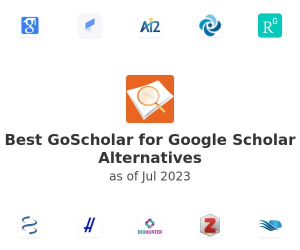 Best GoScholar for Google Scholar Alternatives
