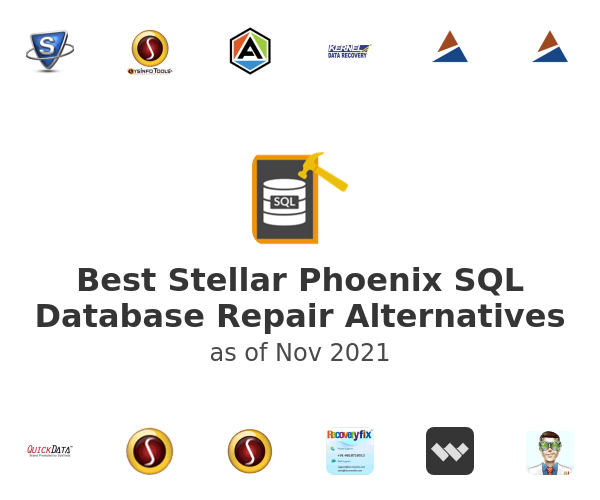 Best Stellar Phoenix SQL Database Repair Alternatives