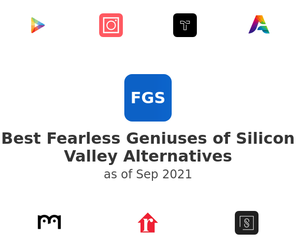 Best Fearless Geniuses of Silicon Valley Alternatives
