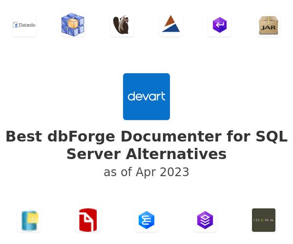 Best dbForge Documenter for SQL Server Alternatives