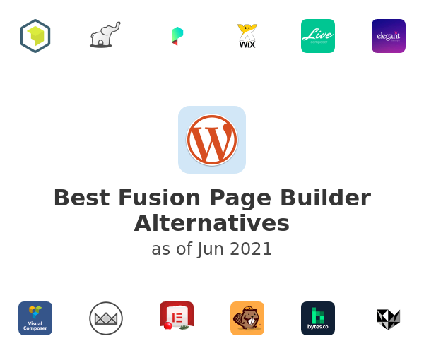 Best Fusion Page Builder Alternatives