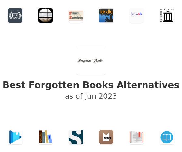 Best Forgotten Books Alternatives