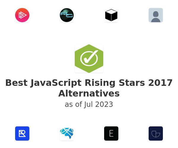 Best JavaScript Rising Stars 2017 Alternatives
