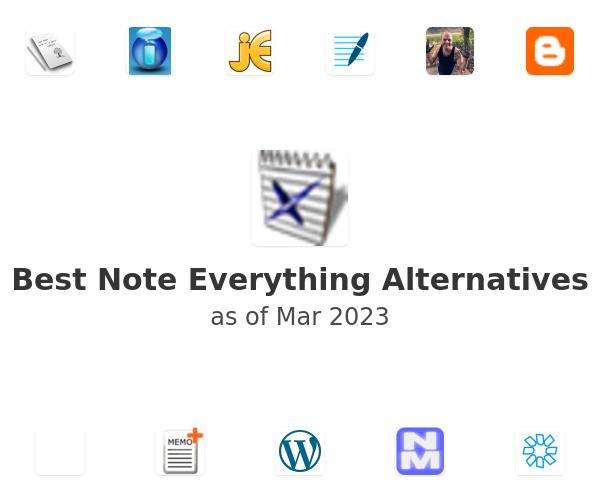 Best Note Everything Alternatives