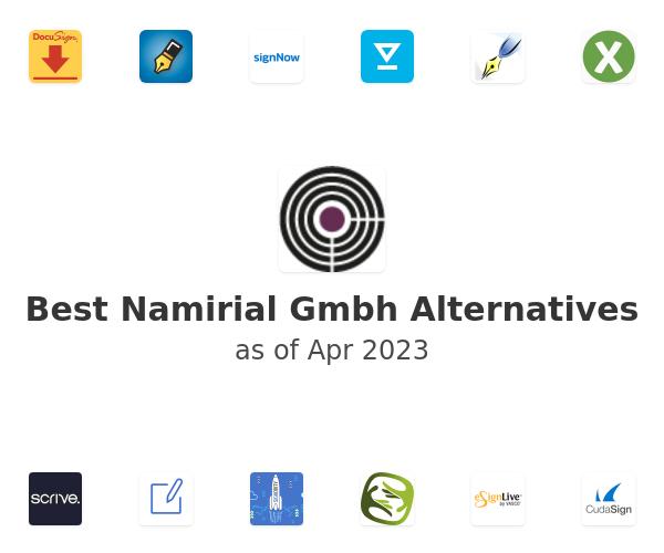 Best Namirial Gmbh Alternatives