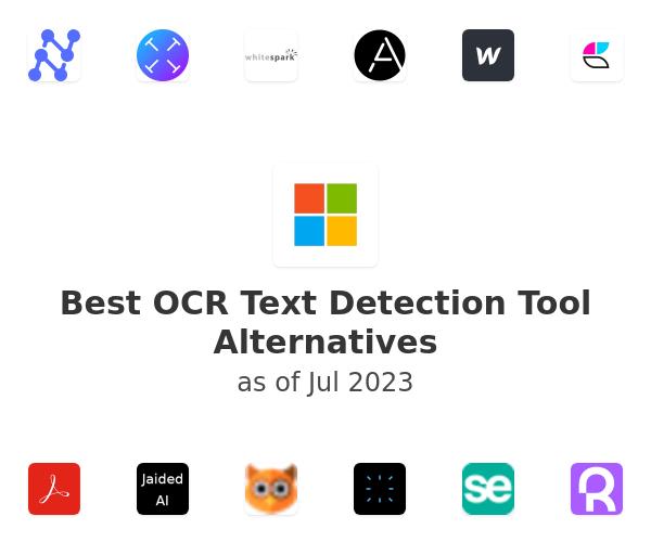 Best OCR Text Detection Tool Alternatives