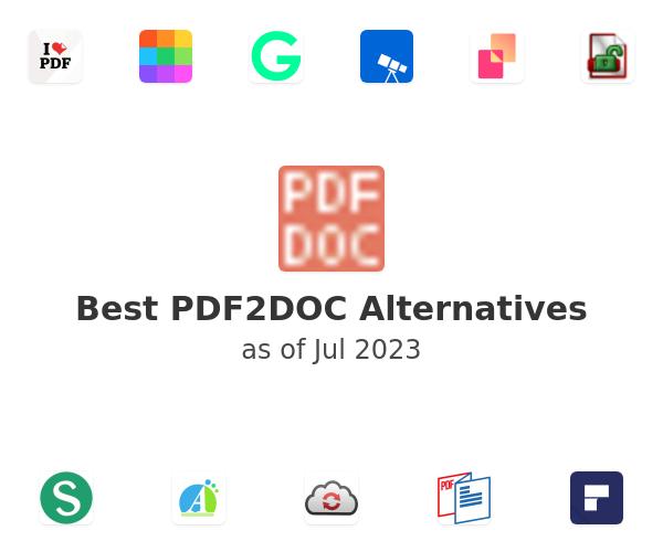 Best PDF2DOC.com Alternatives