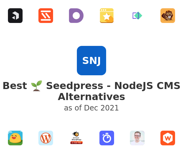 Best 🌱 Seedpress - NodeJS CMS Alternatives