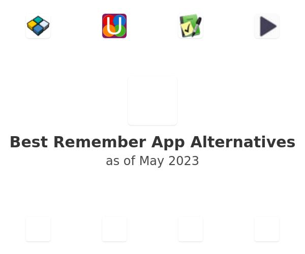 Best Remember App Alternatives