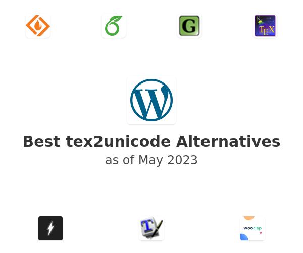 Best tex2unicode Alternatives