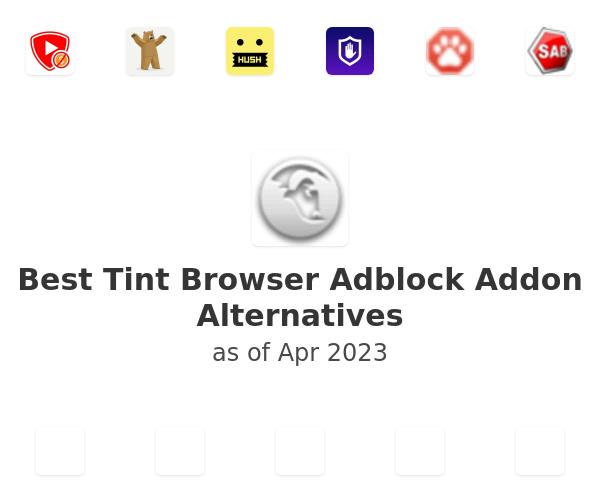 Best Tint Browser Adblock Addon Alternatives