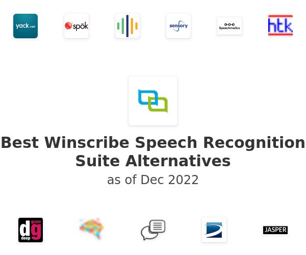 Best Winscribe Speech Recognition Suite Alternatives