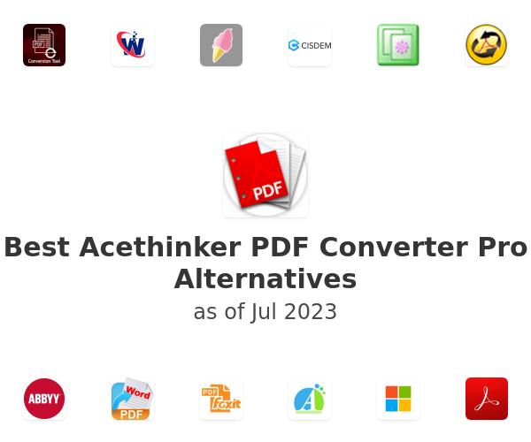 Best Acethinker PDF Converter Pro Alternatives