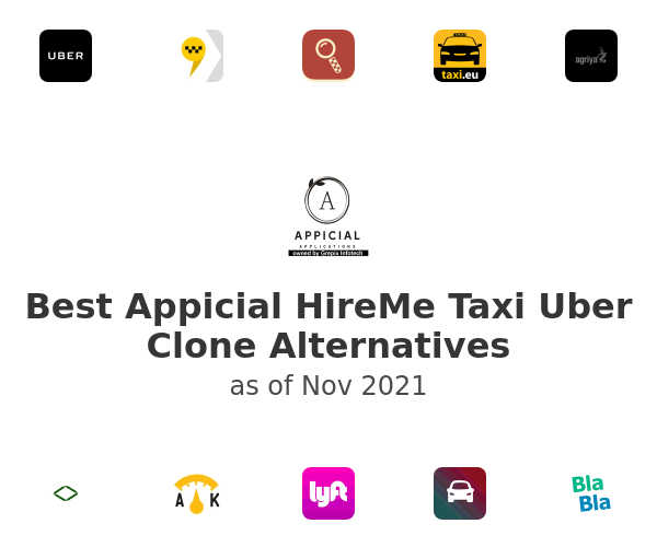 Best Appicial HireMe Taxi Uber Clone Alternatives
