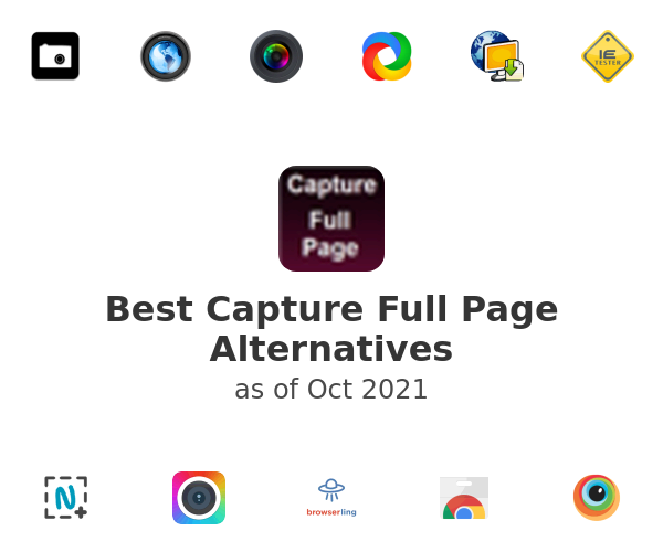 Best Capture Full Page Alternatives