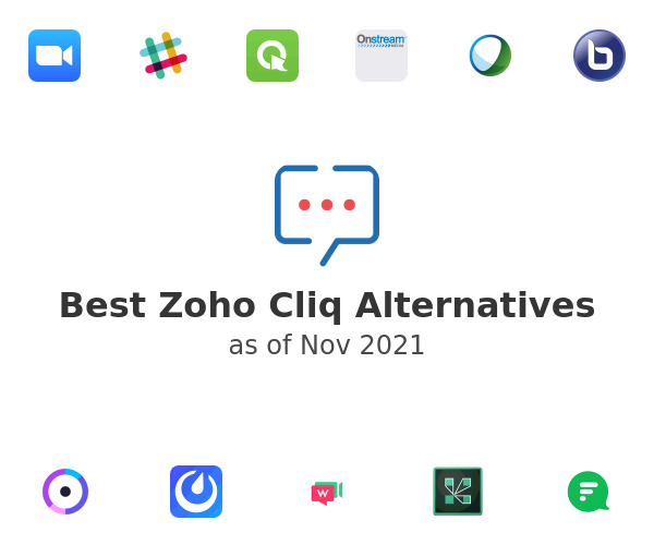 Best Zoho Cliq Alternatives
