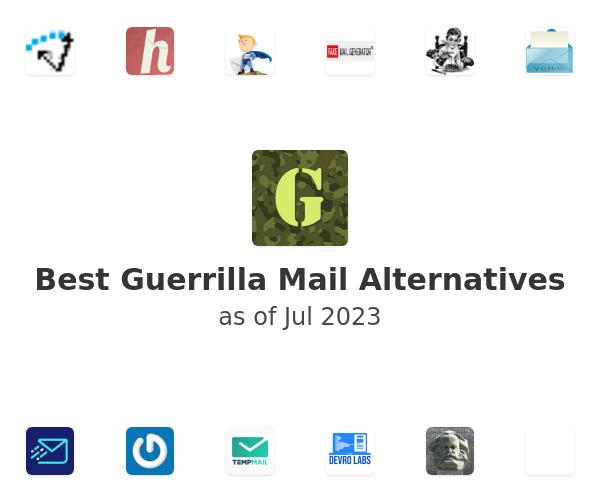Best Guerrilla Mail Alternatives
