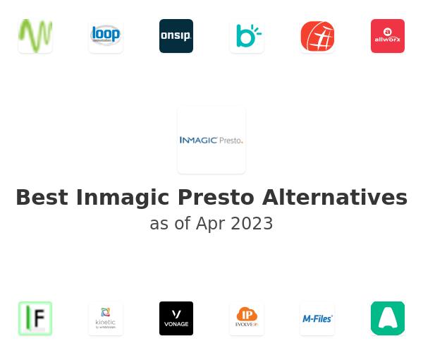 Best Inmagic Presto Alternatives