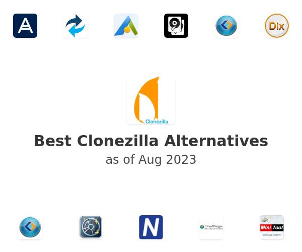 Best Clonezilla Alternatives