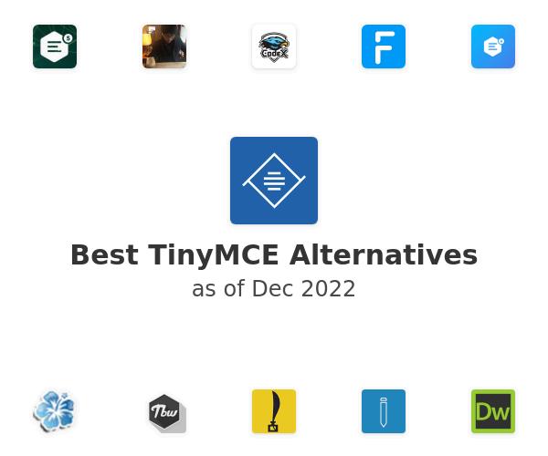 Best TinyMCE Alternatives