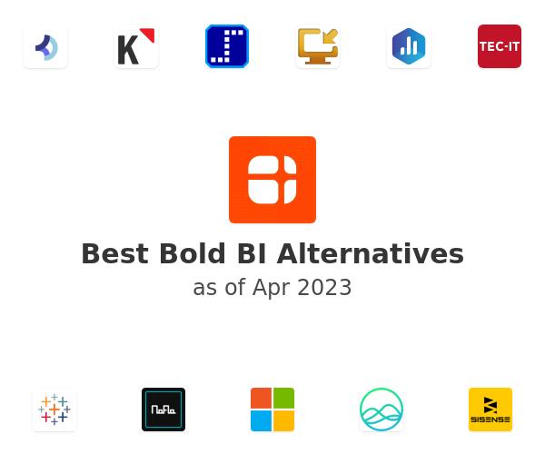 Best Bold BI Alternatives