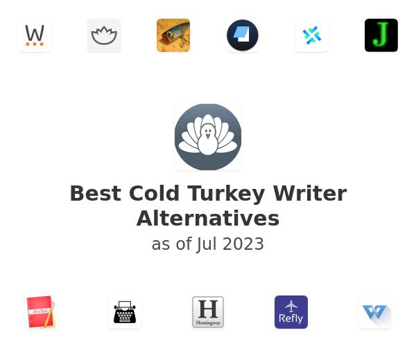 Best Cold Turkey Writer Alternatives
