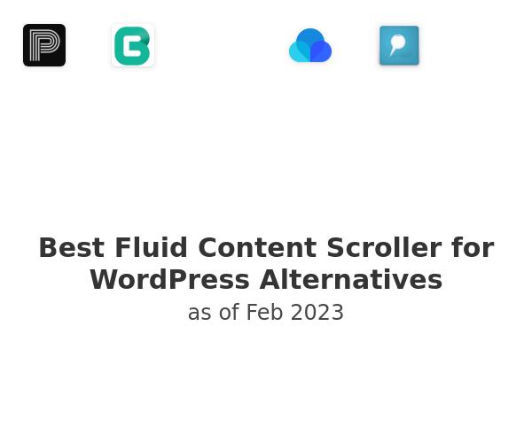 Best Fluid Content Scroller for WordPress Alternatives