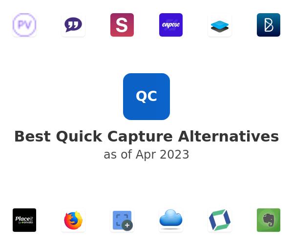 Best Quick Capture Alternatives