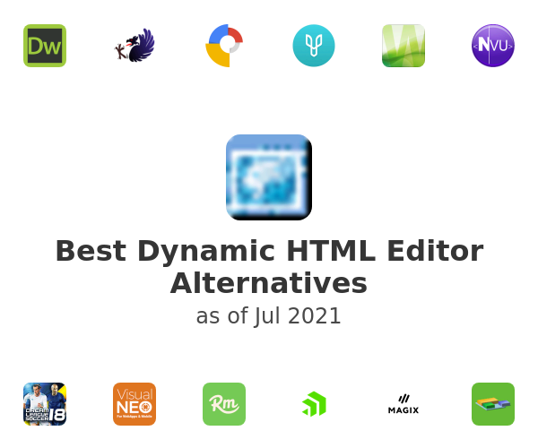 Best Dynamic HTML Editor Alternatives