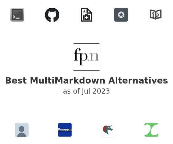 Best MultiMarkdown Alternatives