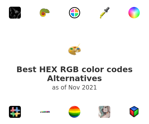 Best HEX RGB color codes Alternatives