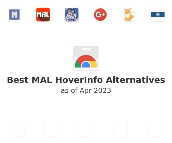 Best MAL HoverInfo Alternatives
