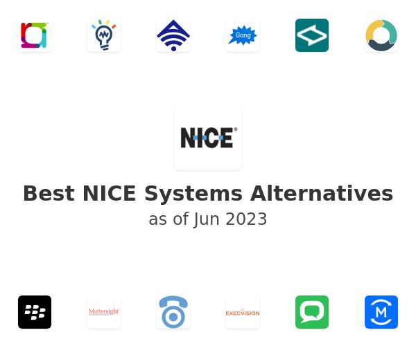 Best NICE Systems Alternatives