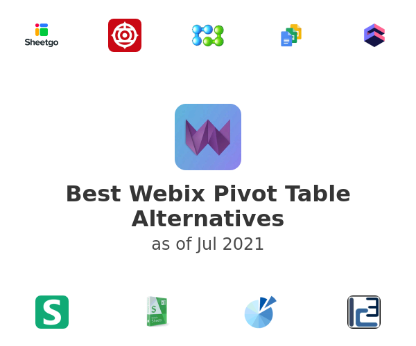 Best Webix Pivot Table Alternatives