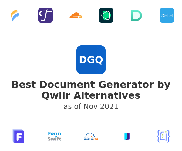 Best Document Generator by Qwilr Alternatives