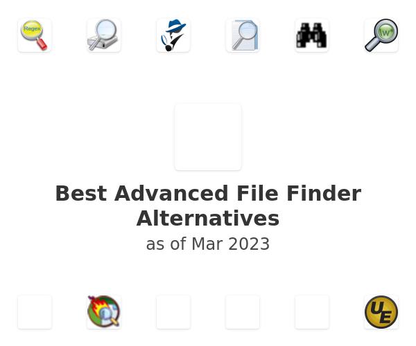 Best Advanced File Finder Alternatives