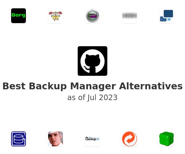 Best Backup Manager Alternatives