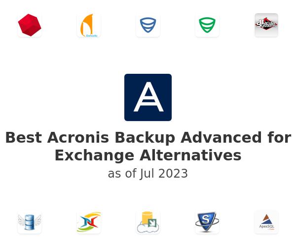 Best Acronis Backup Advanced for Exchange Alternatives