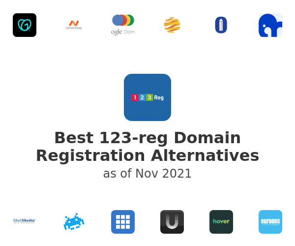 Best 123-reg Domain Registration Alternatives