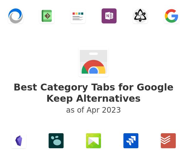 Best Category Tabs for Google Keep Alternatives