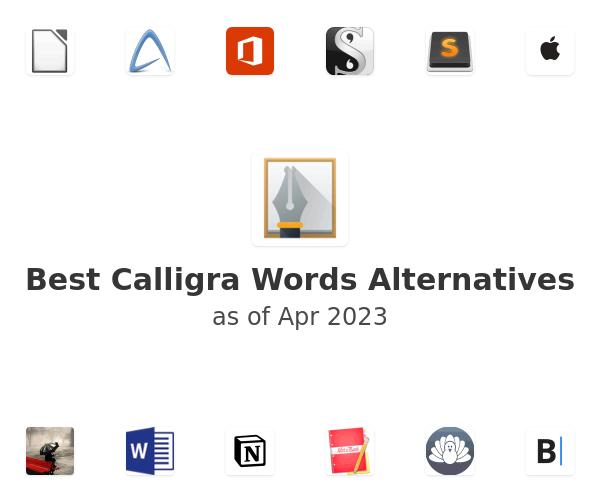 Best Calligra Words Alternatives